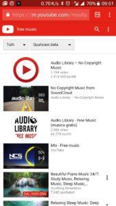 1- Aprire youtube su chrome